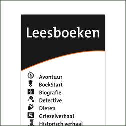 Leesboeken genrebord