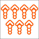 "Sticker-""Pijlen-21-stuks-nr-04"