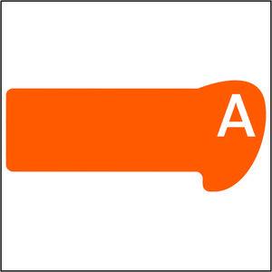 Alfabetset Curvo Oranje